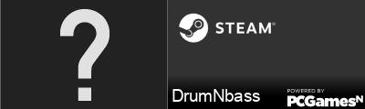 DrumNbass Steam Signature